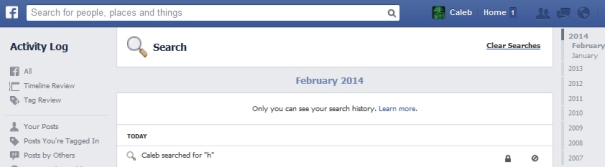 FacebookSearches